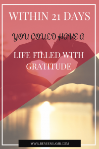 Better Lifestyle 21 Days To Gratitude
